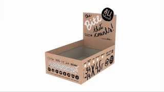 Коробка для батончиков конструкции пачка шоу бокс