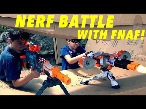 Nerf Battle With Animatronics!