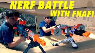 Nerf War with Five Nights at Freddy