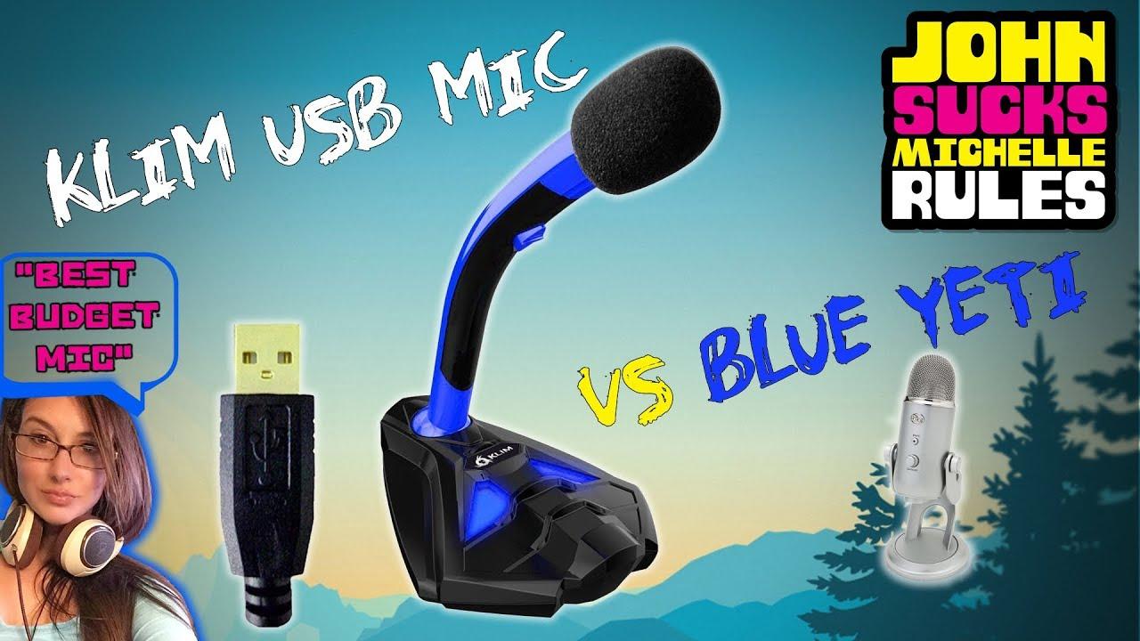 Best Cheap Budget Usb Gaming Mic Under 30 Klim Vs Blue Yeti Audio Studio Condenser Recording Microphone Bm700 For Pc Laptop Komputer Test Voice Comparison Review