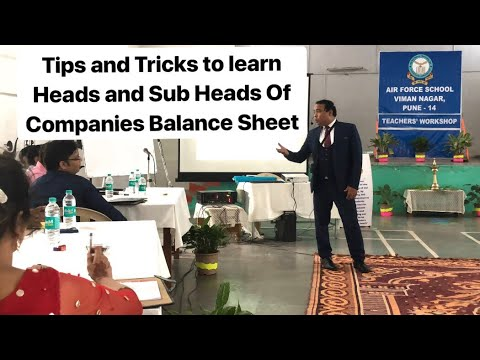 Tips and Tricks to learn Heads and Sub Heads Of Companies Balance Sheet as per Schedule III  Of Com