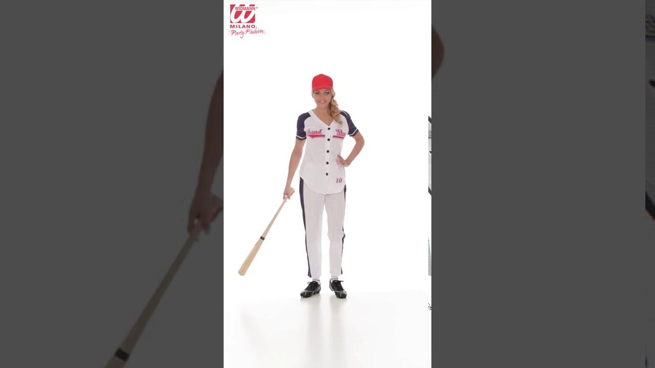 Disfraz de Jugadora de Béisbol para mujer - YouTube 39232004749