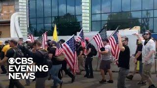 "Far-right ""Proud Boys"" celebrate after Trump's debate callout"
