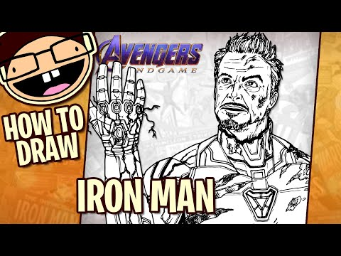 How To Draw IRON MAN (Avengers: Endgame) | Narrated Step-by-Step Tutorial