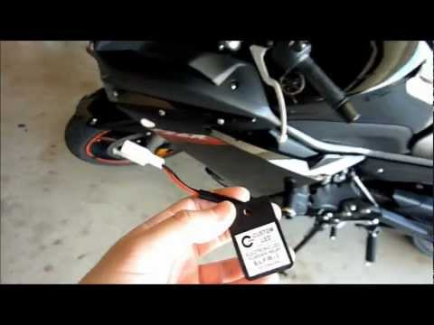 motorcycle flasher relay, yamaha fz6r (turn signals, lights) how-to install  and demo - youtube