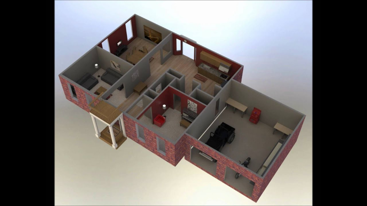 Room Blueprints Solidworks House Youtube
