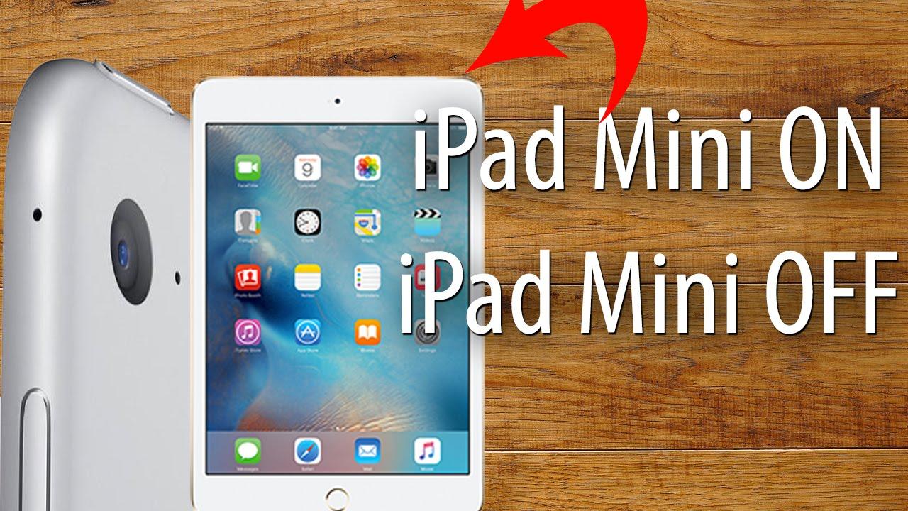 How To Turn The iPad Mini On & Off - iPad Basics Tips & Tricks