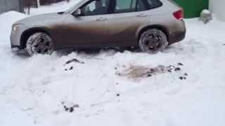 Bmw x1 wet snow