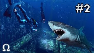 DEPTH: DIVERS VS SHARKS   #2 - TEARING MY FRIENDS INTO PIECES, MY TURN AS THE SHARK!
