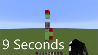 Minecraft How To Make A Rocket In 9 Seconds !!!