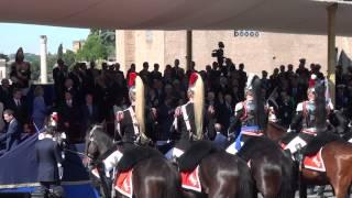 Renzi Saluta Napolitano Festa della Repubblica - Onori al Presidente