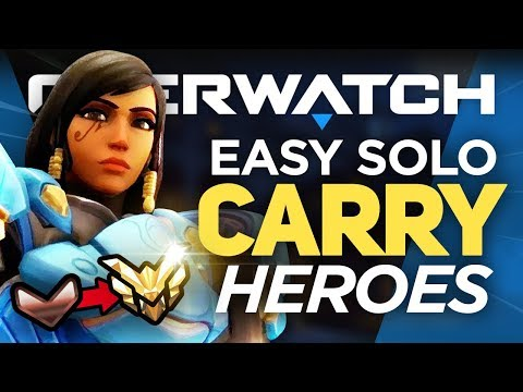 Best 7 Heroes For SOLO QUEUE! Bronze to Masters - Overwatch Guide