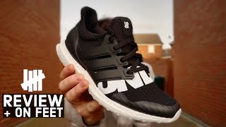 Adidas Ultra Boost X UNDEFEATED COLLAB REVIEW & ON FEET * SAMPLE Pair *