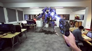 Shot directly through the Linq. True mixed reality is here. Play ga...