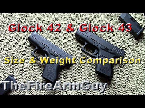 Glock 42 & Glock 43 Size & Weight Comparison ...