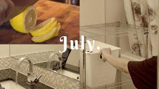 vlog • 레몬 알콜 소독수로 욕실 청소하고 미루던 …