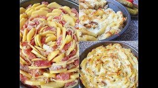 Вкусный обед или ужин. Запеченный картофель с мясом под сырной корочкой.