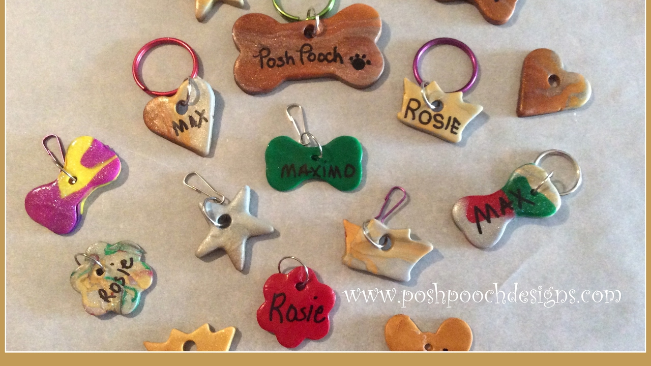 how i make polymer clay dog tags and charms youtube