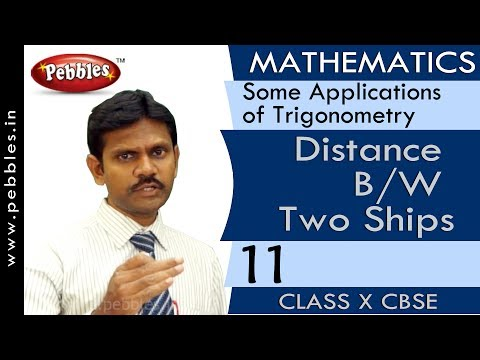 Distance B/W Two Ships | Some Applications of Trigonometry | Mathematics | CBSE Class 10