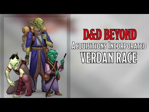 New Playable Race Verdan in 'Acquisitions Incorporated' | D&D Beyond