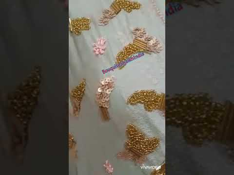 Light Green Color Anarkali Baju India Customer Order