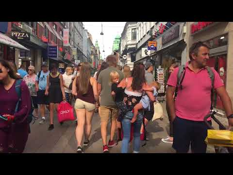 Walking street Copenhagen Center 2018
