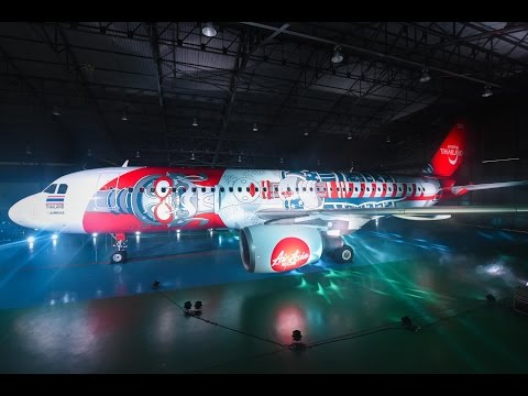 "Winning ""Paint The Sky"" Livery On Thai AirAsia Plane"