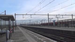 オランダ国鉄 インターシティ ラゲ・ズワールエー駅通過 LageZwaluwe intercity pass