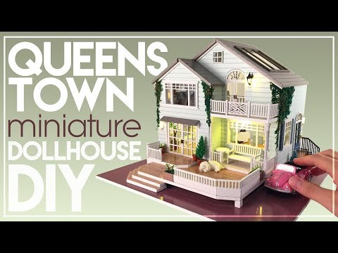 DIY QUEENSTOWN NEW ZEALAND MINIATURE HOUSE | with Chic Interior & Lighting