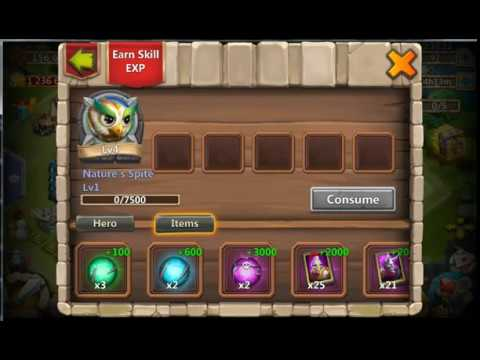 Levelling Up Pets Skill, Aviar  Castle Clash
