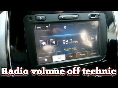 Renault Kwid media nav radio volume off technic