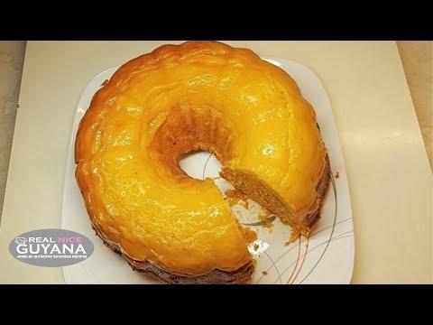 Custard Carrot Cake, Step By Step Video Recipe II Real Nice Guyana (HD)
