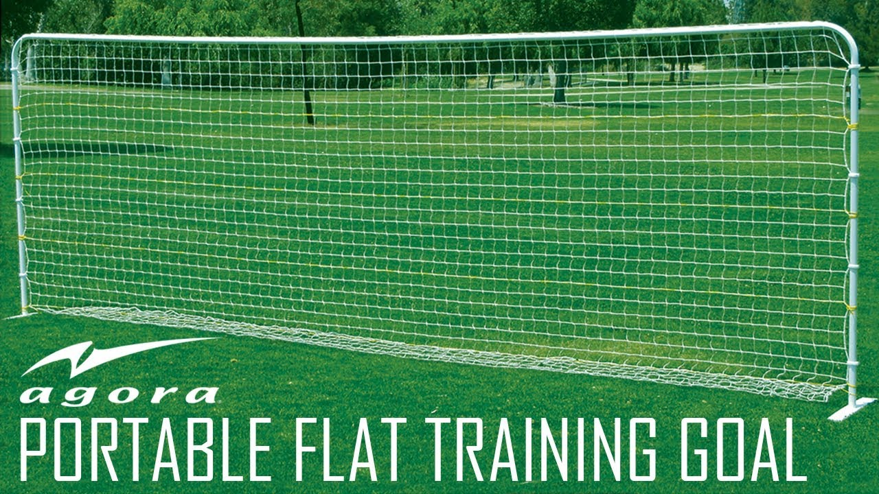 agora portable flat training soccer goal assembly youtube