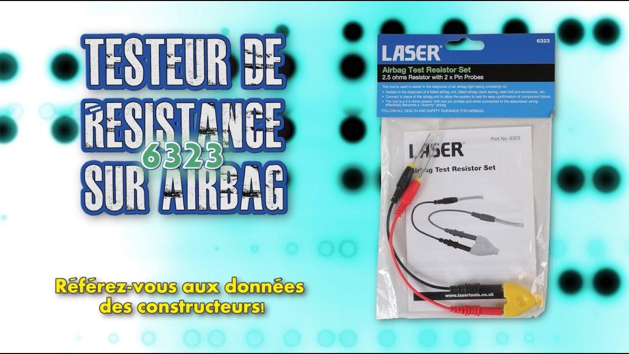 6323 | LaserTools Testeur de Résistance sur Airbag - YouTube