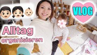 Alltag mit Baby + Kind organisieren | kochen | Lili sitzt | Glitzer Tattoo | Mamiseelen