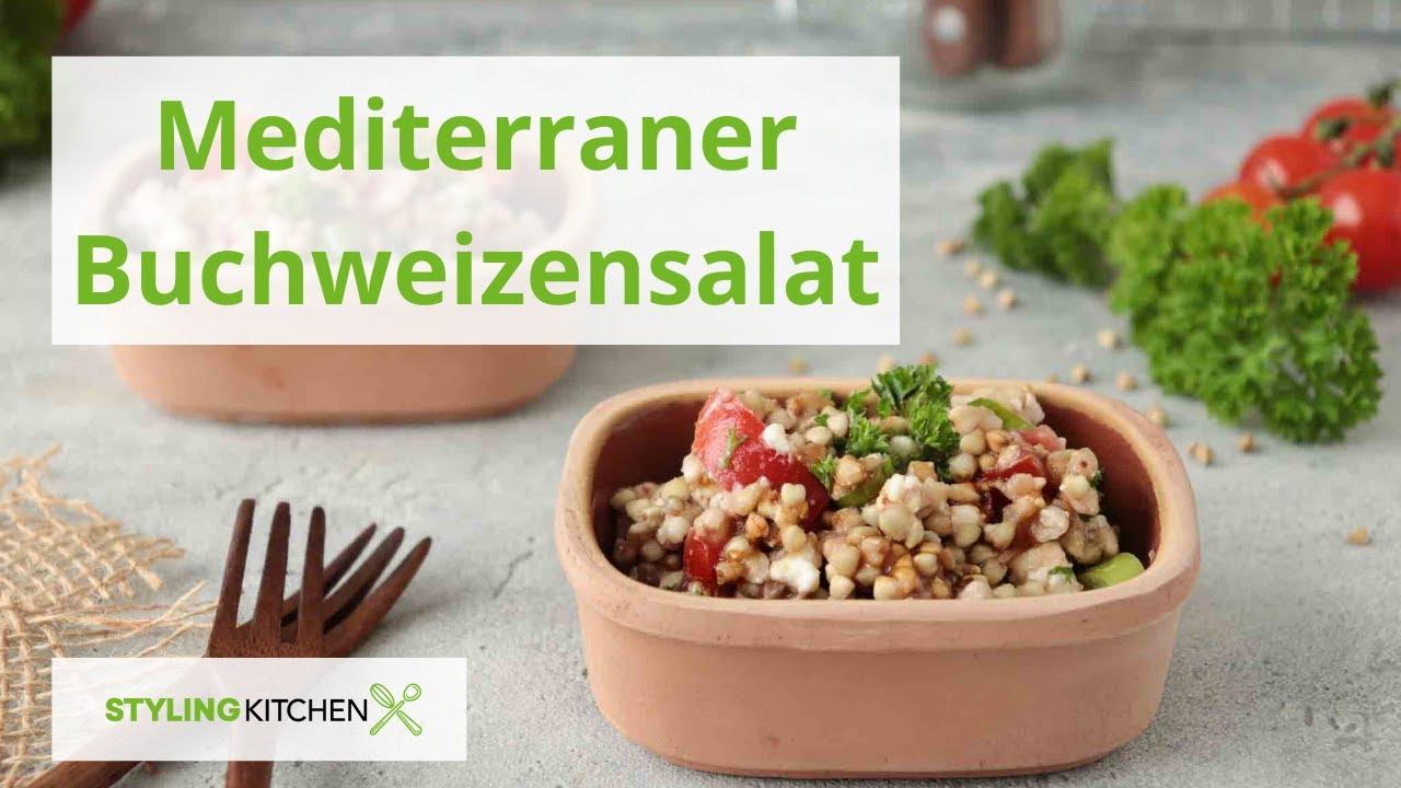 Mediterraner Buchweizensalat / Rezept Sommersalat / Stylingkitchen