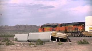 BNSF Needles Sub Part 2-  Z Trains, Vehicle Train Derailment and More!