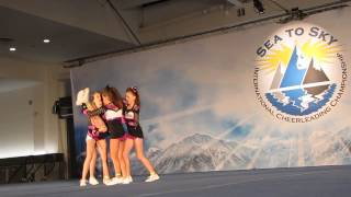 Panther Cheer Youth 3 Fierce Five Stunt Routine Sea-To-Sky 2014
