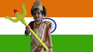 Independence Day Fancy Dress Competition & Speech - Bharath Mata