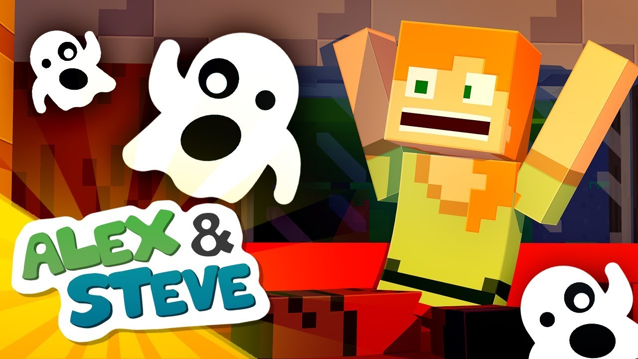 👻 Haunted by Ghosts?! | The Minecraft Life of Alex & Steve | Halloween Minecraft Animation
