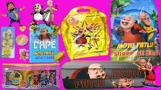 Motu Patlu Pencil Box, Wonder Bag Stationery Gift Pack, Motu Patlu Surprise Gift Bag