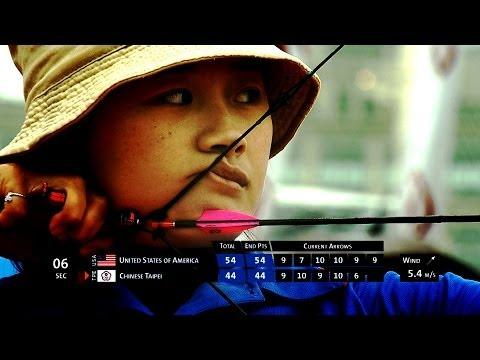 Compound Women Team Gold - Stage 1 : SHANGHAI - Archery World Cup 2014