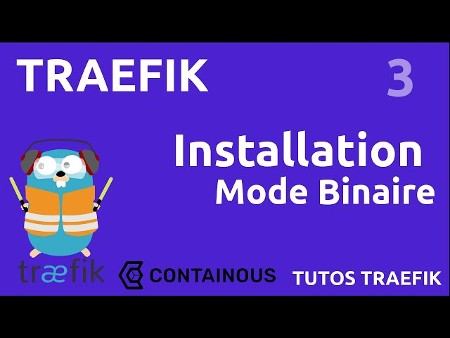 TRAEFIK - 3. INSTALLATION BINAIRE & INTERFACE GRAPHIQUE