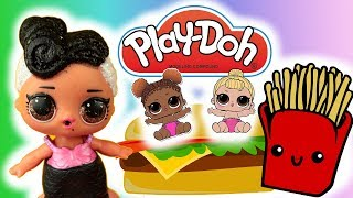 Play Doh Kitchen  Burgery LOL Surprise ❤️ DIY