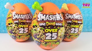 Smashers EPIC Dino Egg Series 3 Unboxing Over 25 Surprises Inside | PSToyReviews