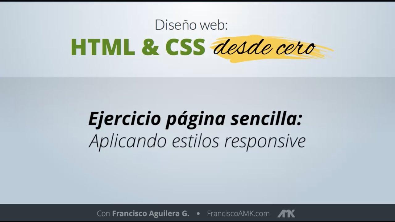 HTML y CSS Desde Cero – 25. Ejercicio Página Sencilla