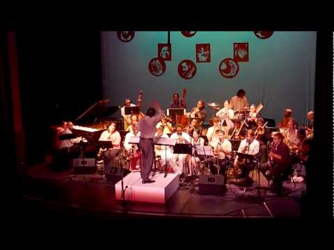 Frank Lacy conducts the Brooklyn College Jazz Band...