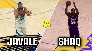 CAN SHAQ BEAT JAVALE MCGEE IN A HALF COURT CONTEST? NBA 2K17 GAMEPLAY!