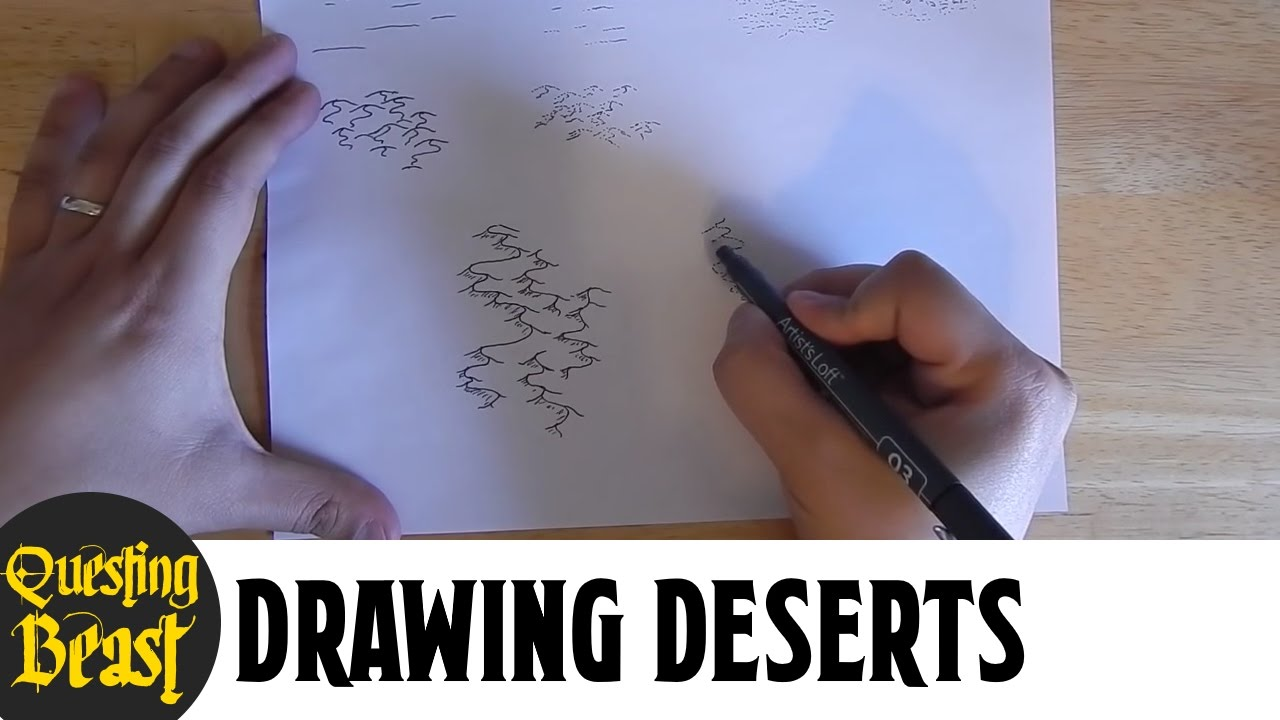 How to Draw Deserts: Fantasy Map Making Tutorial for DnD