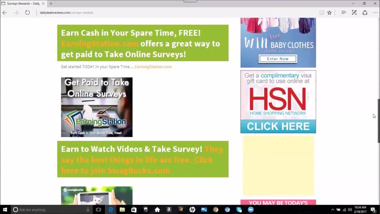 Earn Money And Rewards Taking Online Surveys